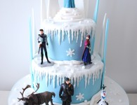 tiered disney Frozen birthday cake
