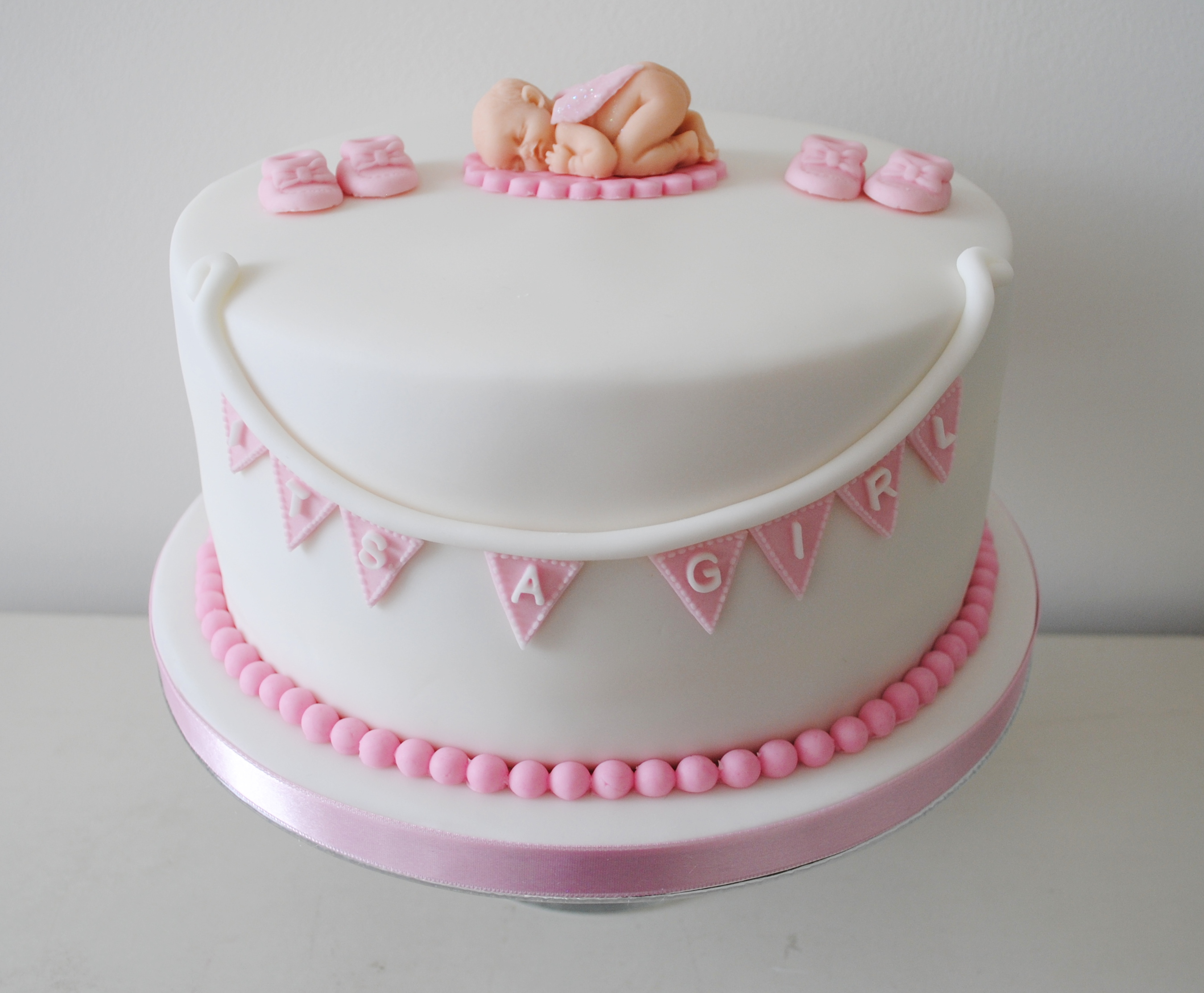 Cake Decorating Baby Shower Girl : Miss Cupcakes  Blog Archive   Its a girl Baby shower cake