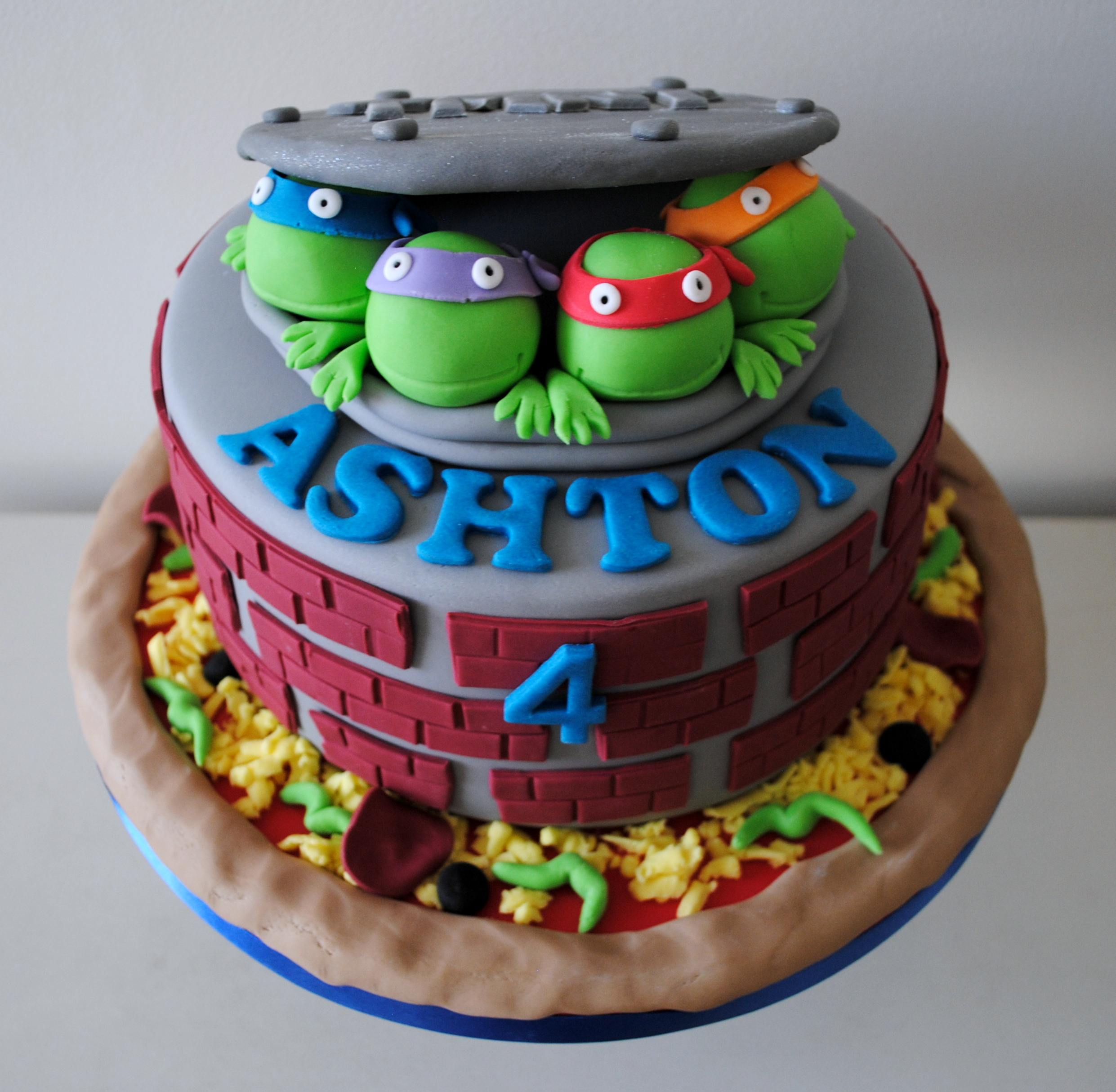 Miss Cupcakes Blog Archive Teenage Mutant Ninja Turtle Birthday Cake