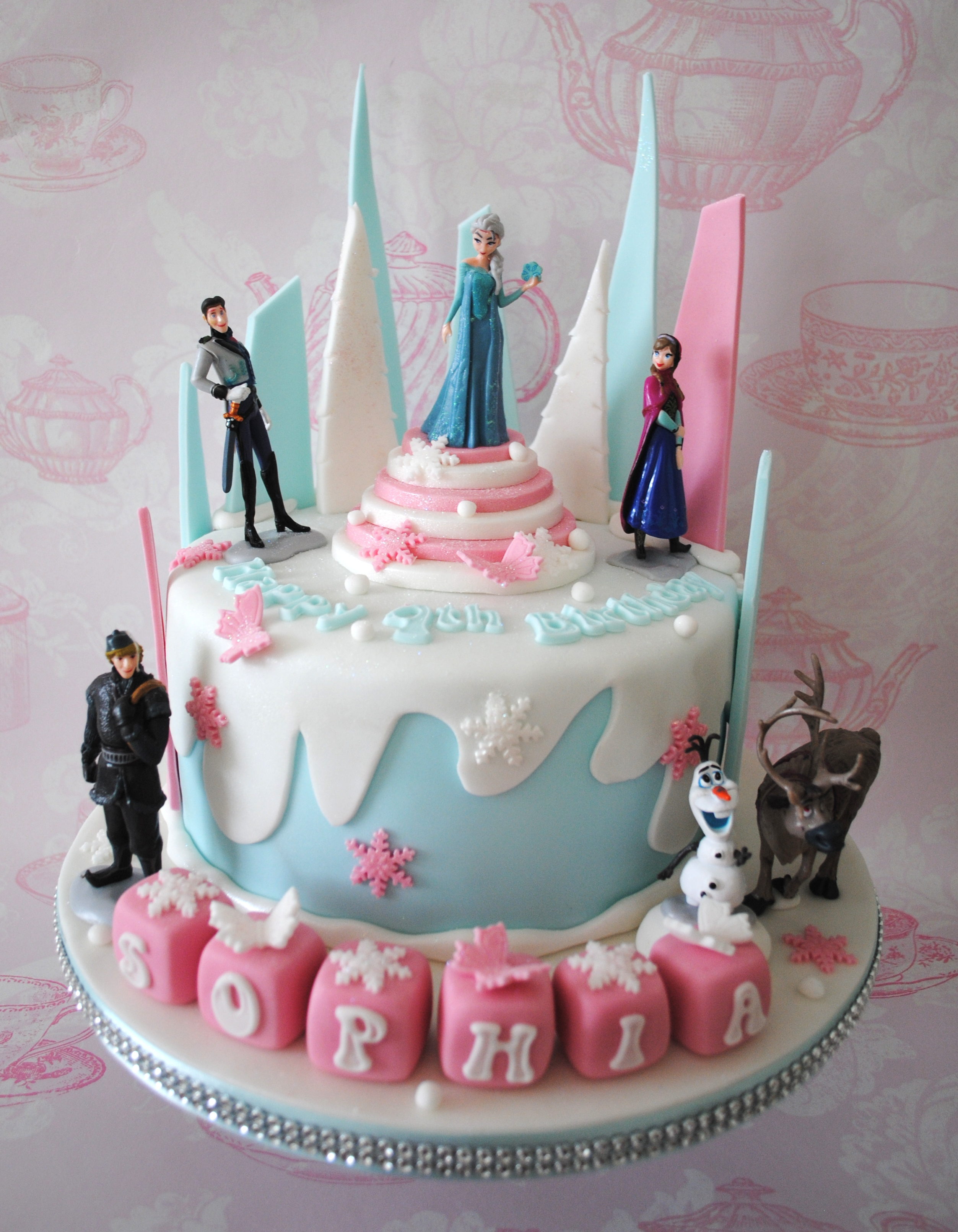 Shop / Celebration cakes / Pink Disney Frozen Birthday cake