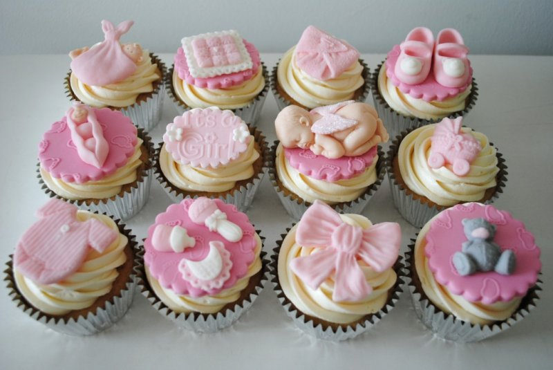 Baby Girl Pink Cupcakes