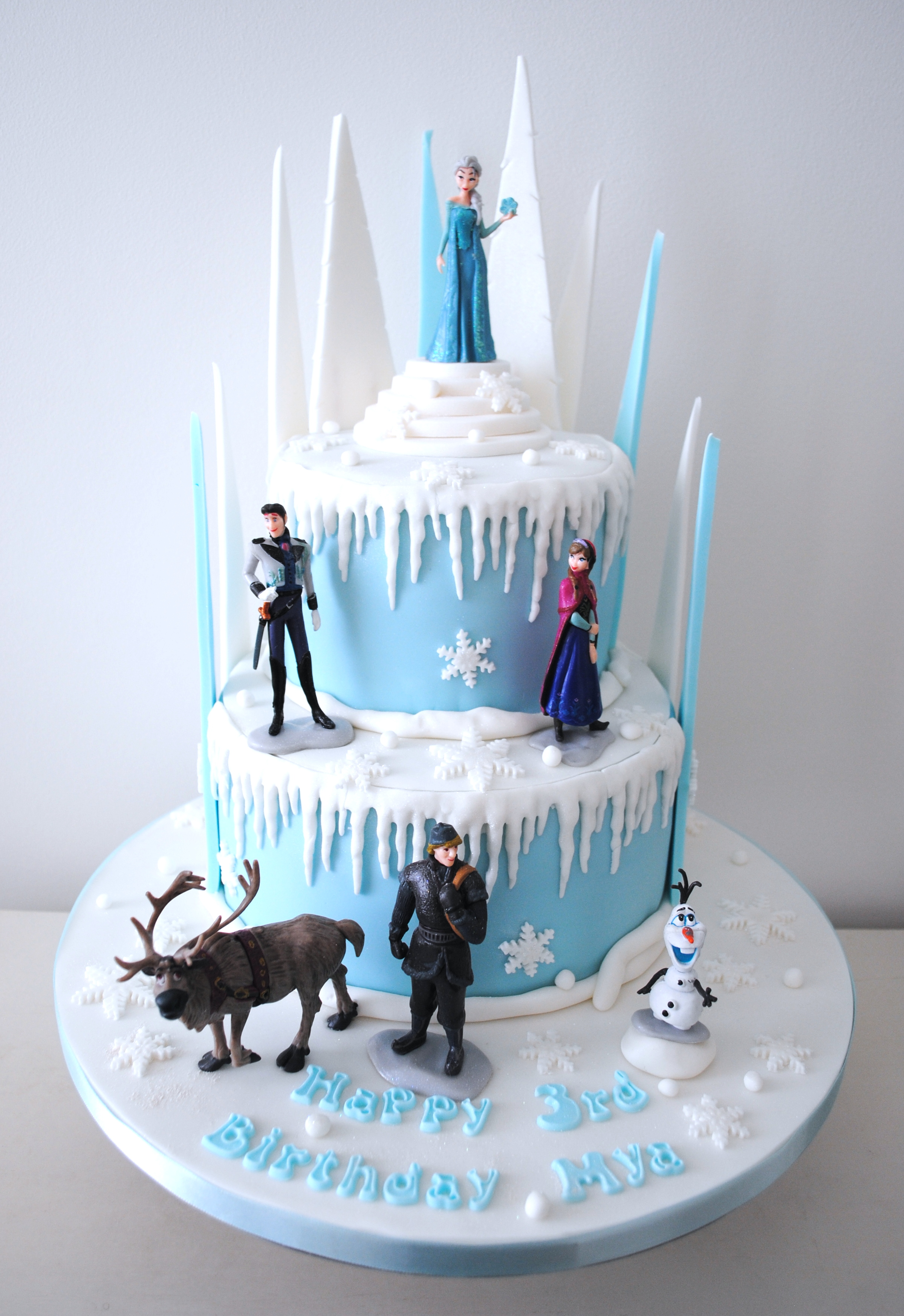 Super Miss Cupcakes Blog Archive 2 Tiered Disney Frozen Cake Funny Birthday Cards Online Fluifree Goldxyz