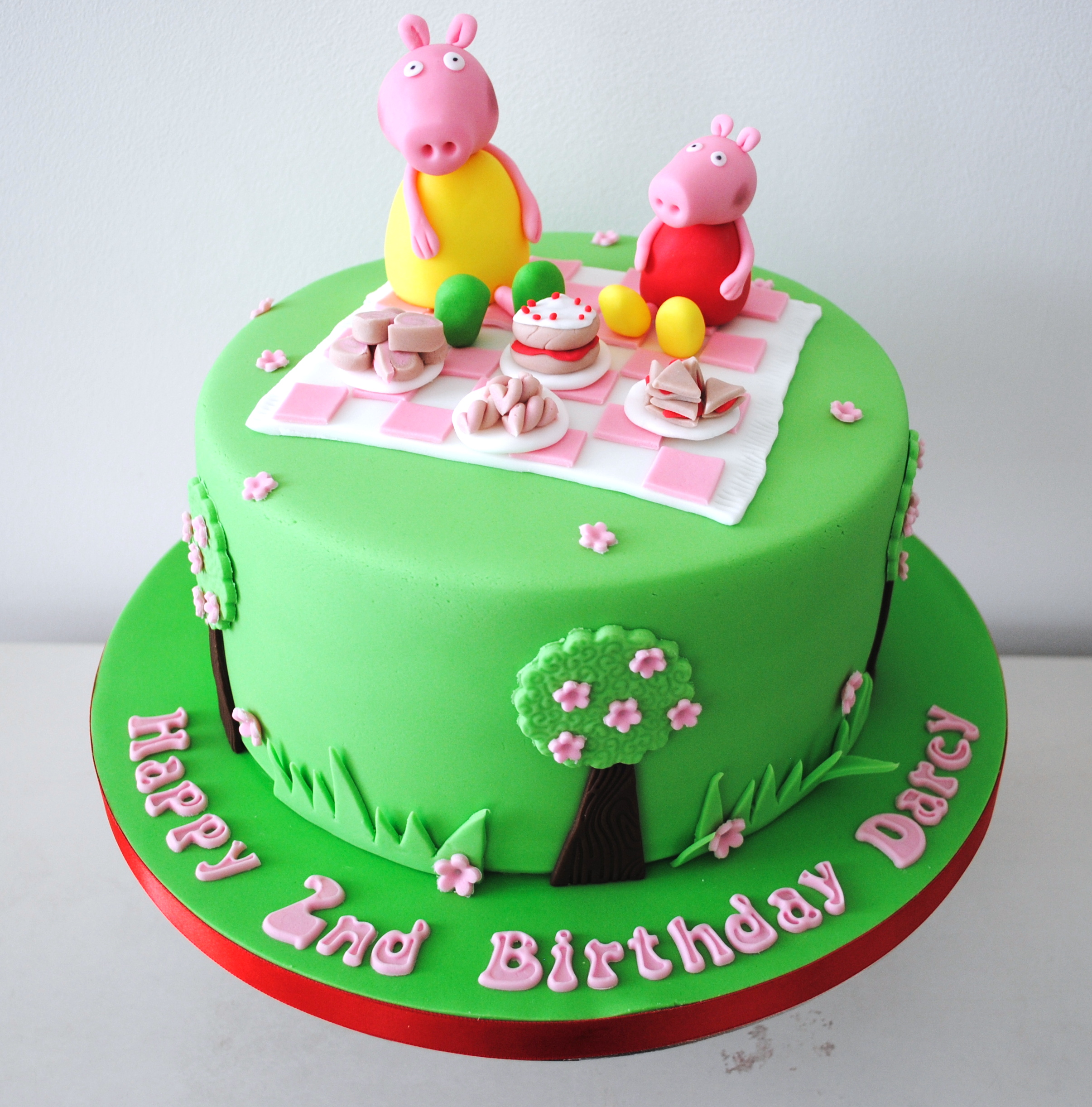 Outstanding Miss Cupcakes Blog Archive Peppa Pig Picnic Birthday Cake Funny Birthday Cards Online Overcheapnameinfo