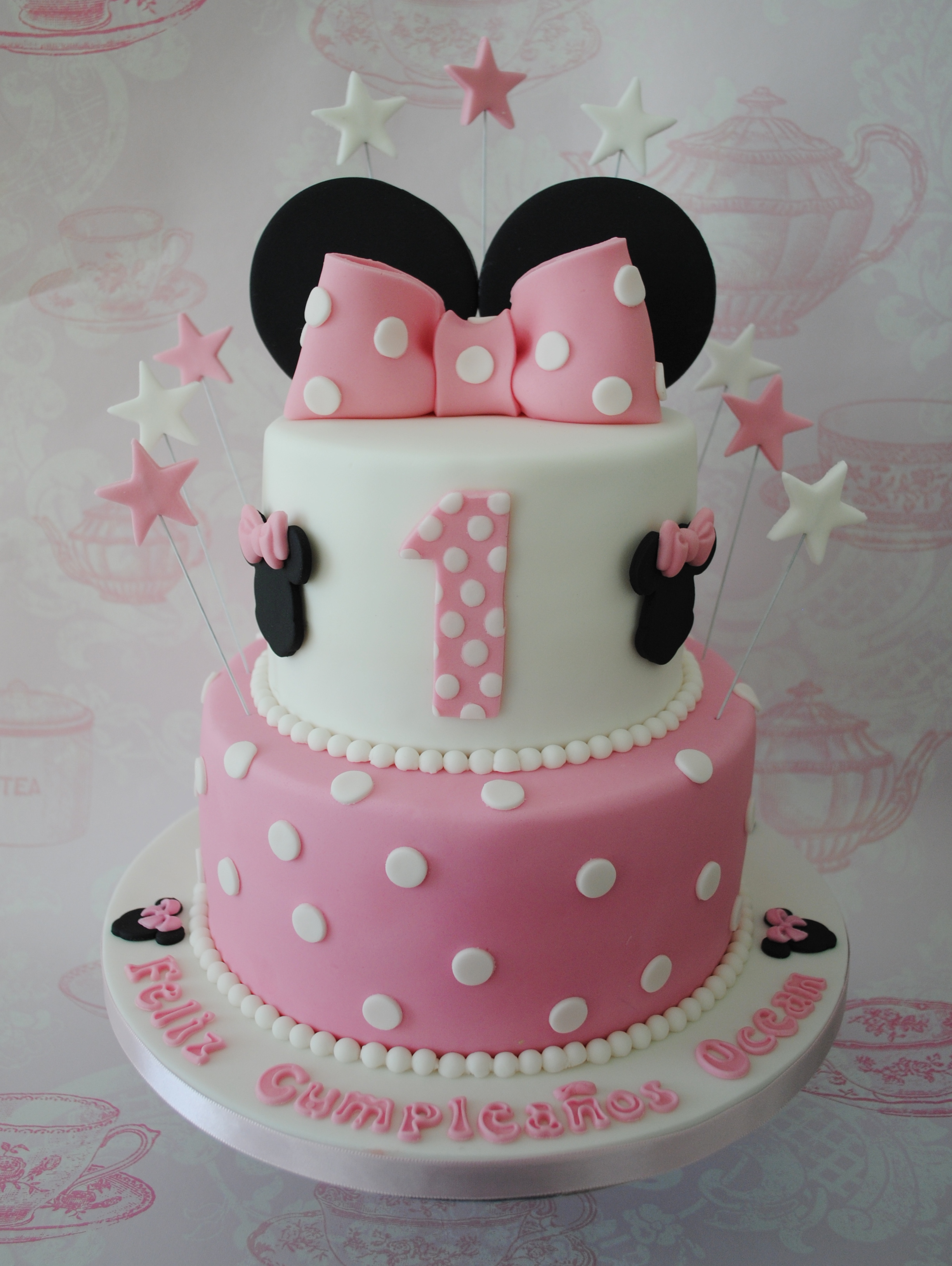 Awesome Miss Cupcakes Blog Archive 2 Tiered Minnie Mouse Birthday Cake Funny Birthday Cards Online Alyptdamsfinfo